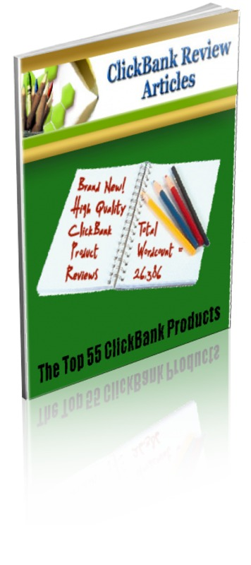Product picture 55 Clickbank Review Articles PLR